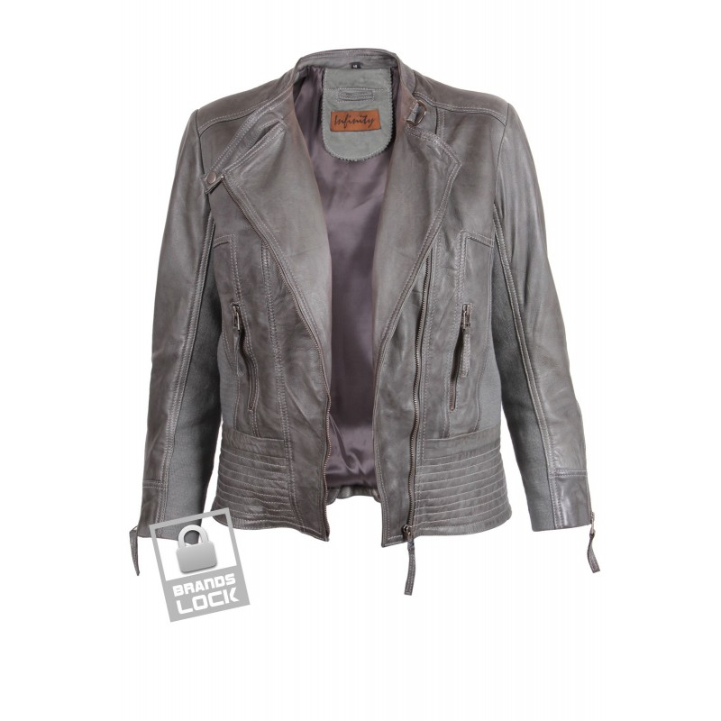 Grey leather jackets