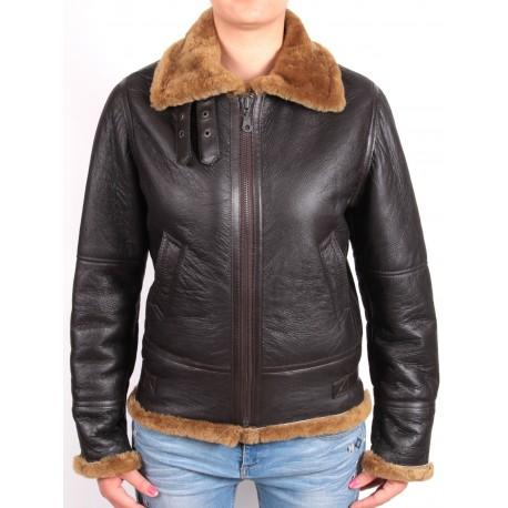 ladies brown bomber jacket  - Luiz
