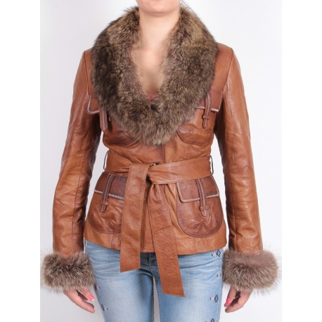 Ladies Shearling sheepskin Jacket - Kareena