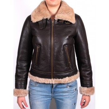 Women Shearling sheepskin Jacket - Virgo