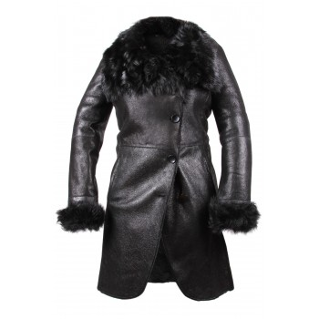 Women Shearling Sheepskin Coat - Yvetta
