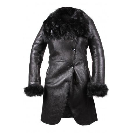 Ladies Shearling Sheepskin Coat - Yvetta