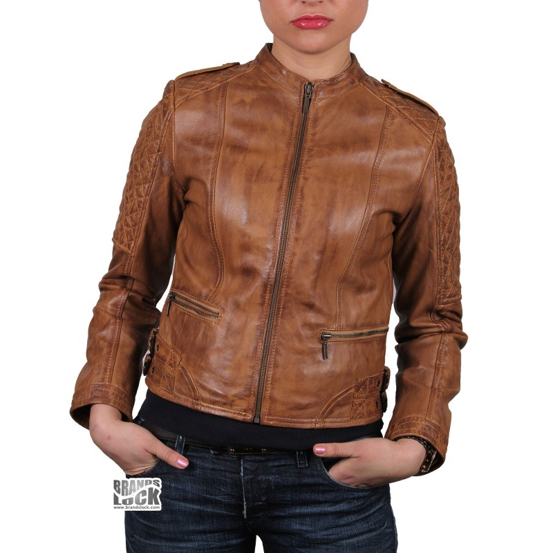 Discover the range of women's leather jackets from ASOS. Shop from a variety of leather jackets, biker jackets and bomber jackets. your browser is not supported. Missguided borg and leather look aviator jacket in brown. $ AllSaints leather balfern biker jacket. $