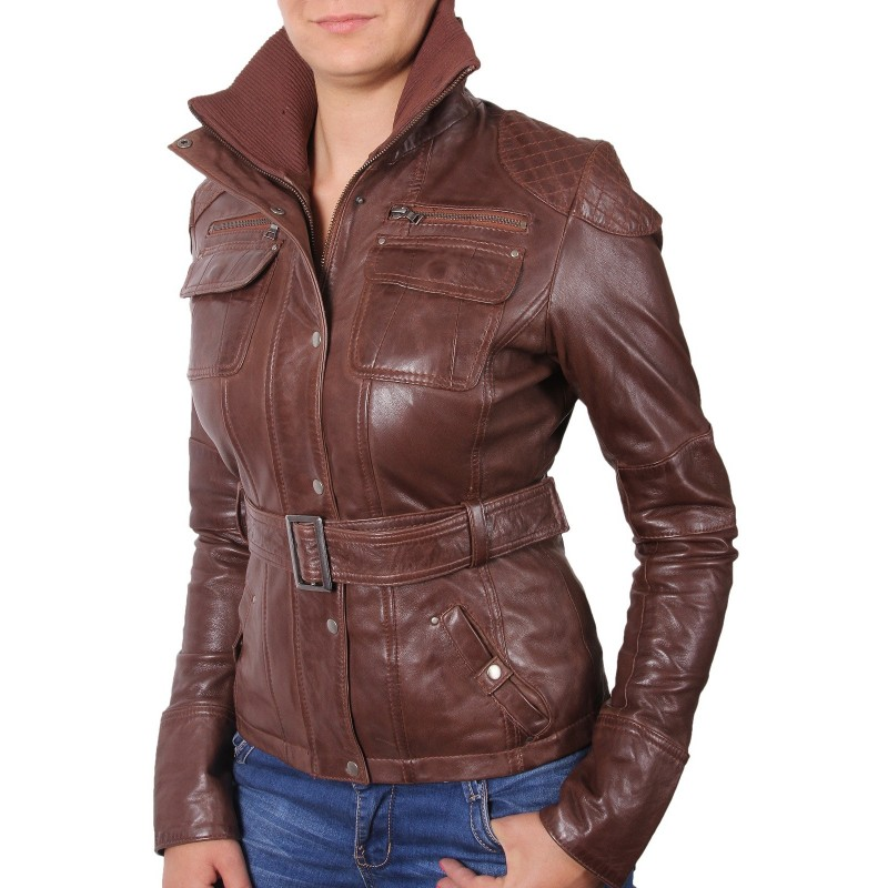 Leather Ladies Coats - Coat Racks