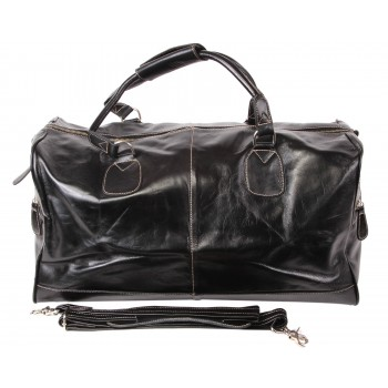 Black Leather Holdall bag - Hayes