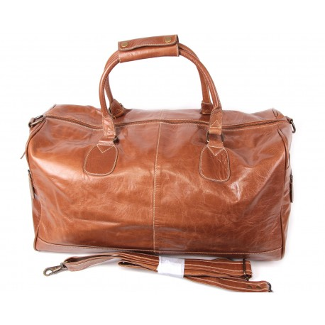 Tan Leather Holdall bag - Hayes
