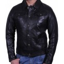 Men's Black Leather Jacket - Aaron