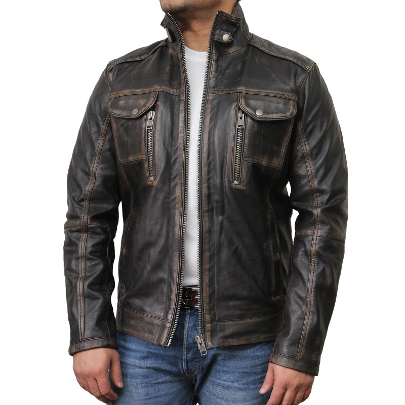 Find great deals on eBay for mens black leather biker jacket. Shop with confidence.