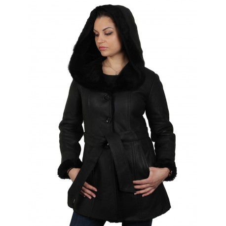 Womens Sheepskin Leather Jacket - Cathy