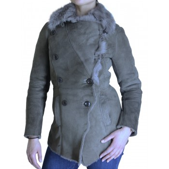 Womens Sheepskin Leather Jacket - Ann
