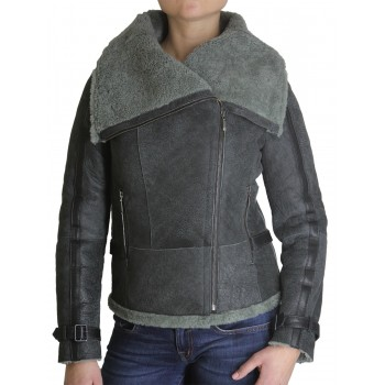 Womens Sheepskin Leather Jacket - Bonnie