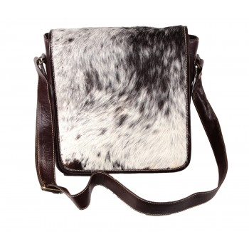 Brown And White Messenger Bag - Delsey