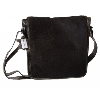 Black Messenger Leather Bag-Nova