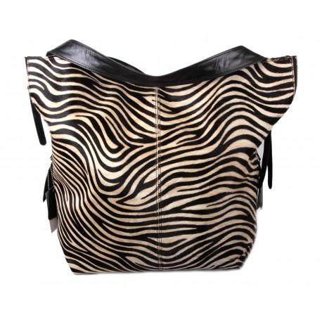 Blacke And White  Messenger  Bag - Zebra
