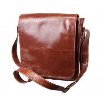 Brown Leather Laptop Bag - Master