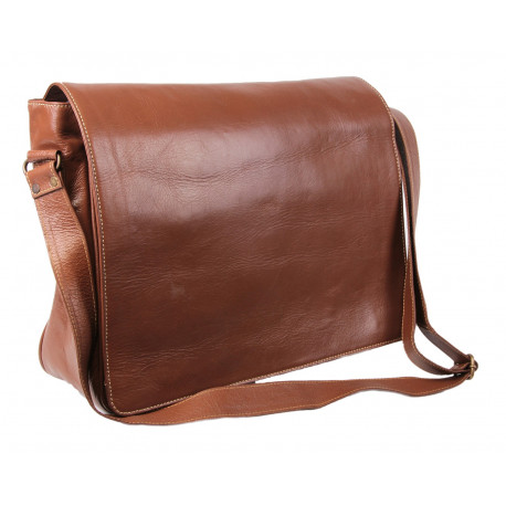 Brown Leather Laptop Bag - King