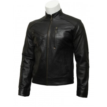 Mens Black Classic Latest Design Biker Leather Jacket-Darcy