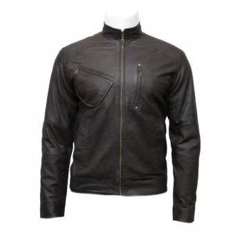 Mens Brown Classic Latest Design Biker Leather Jacket-Darcy