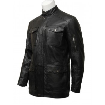 Mens Nice And Warm Vintage Retro Black Coat-Jacob