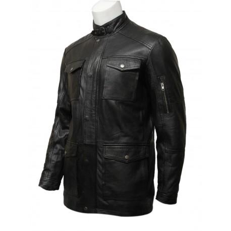 Mens Nice And Warm Vintage Retro Black Coat-Jacob