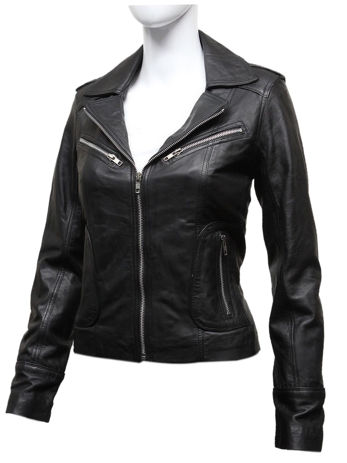 Women's Leather Biker Jackets Online | BRANDSLOCK.COM - Brandslock