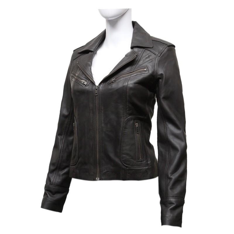 Ladies Vintage Leather Jacket 47