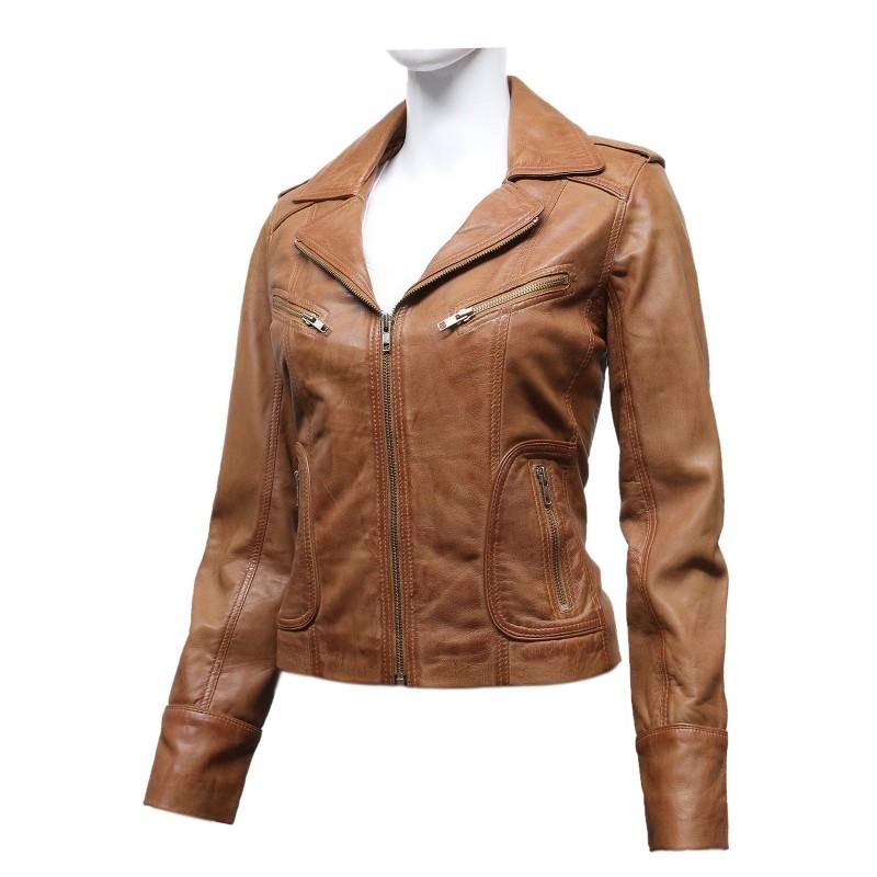 Ladies Vintage Leather Jacket 90