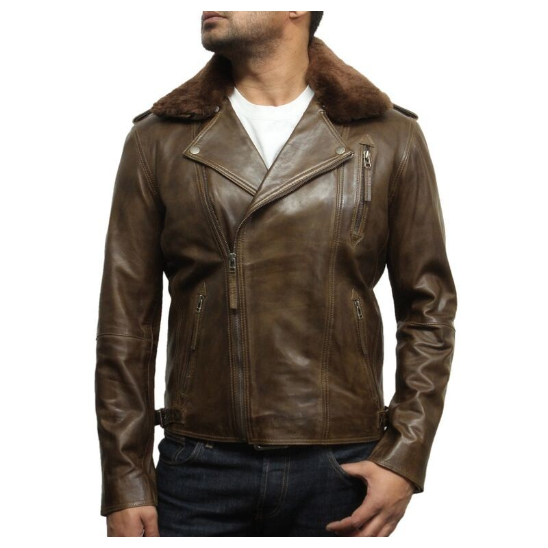 Wholesale Men Fur Leather Coat
