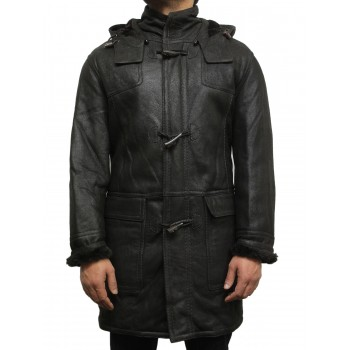 Men's shearling sheepskin duffle coat - Arturs