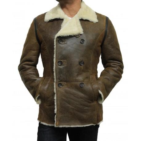 Men's shearling sheepskin jacket - Rambo