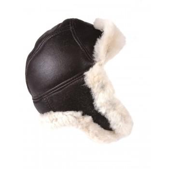 100% Sheepskin Aviator Pilot Hat
