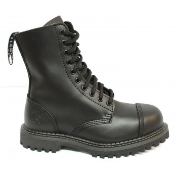 Grinders Vintage Mens Women Unisex Leather Designer Look Derby Punk Boots - Stag CS