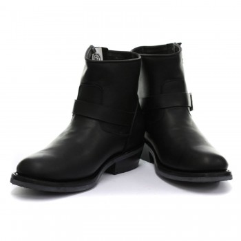Grinders Vintage Mens Black Real Leather Designer Look Boots - Charger