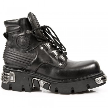 New Rock Unisex Reactor Style Black Boots M.924 S1