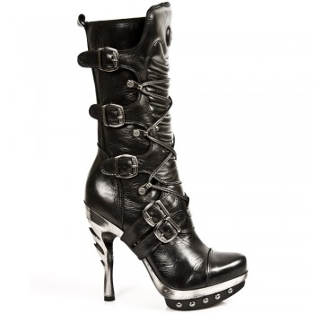 New Rock Womens Stylish Leather Boots M.PUNK001-C1