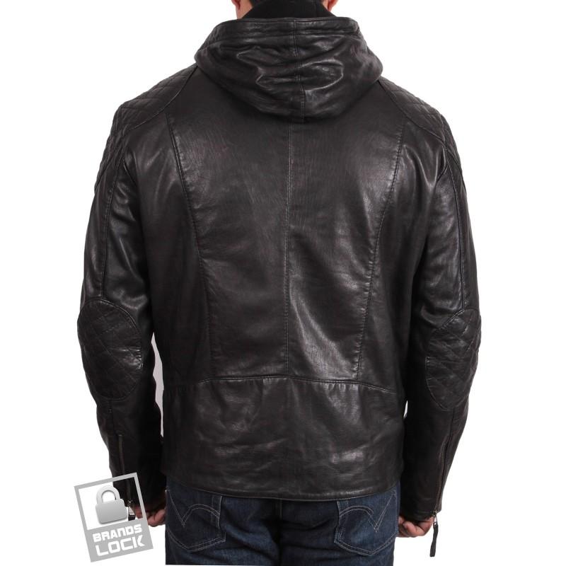 Black leather bomber jackets