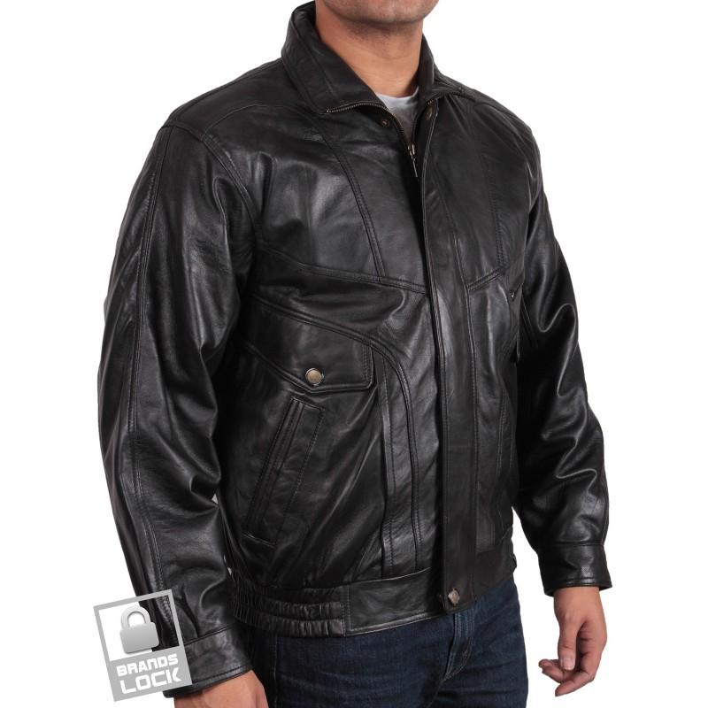 Men's Black Leather Jacket | Desktop Backgrounds