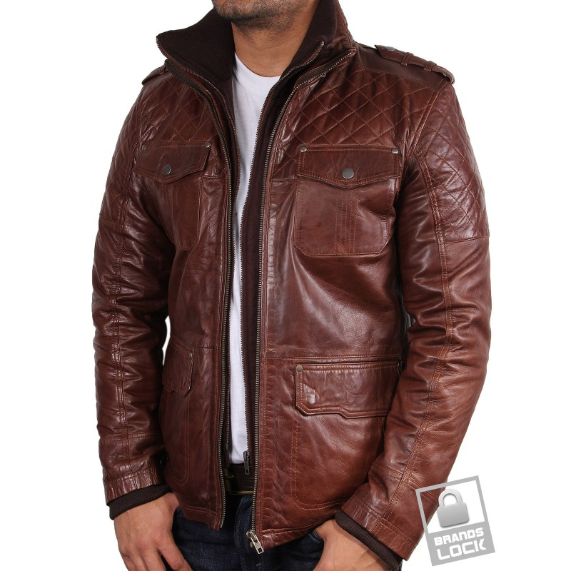 "MENS PARIS DAKAR BOMBER AVIATOR LEATHER JACKET COAT PRE OWNED GOOD CONDITION TEAR AT SEAM AND BACK HEM ADJUSTMENT AS PICTURED SIZE XL Arm pit to arm pit measures 24"" Shoulder to cuff 26"" Collar to hem 34"" BROWN SHEEPSKIN LINING."
