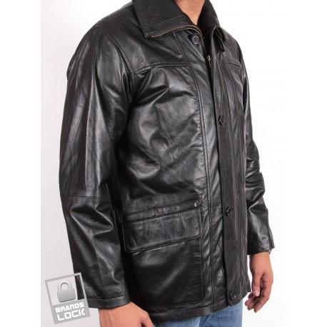 Men's Black Leather Jacket - Jazz