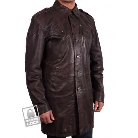 Men's Brown Leather Jacket - Outsider