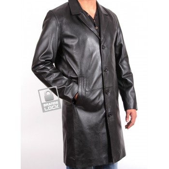Men's Black Leather Jacket - Tropic
