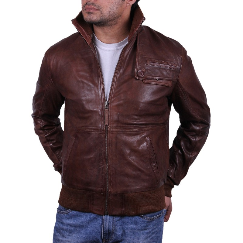 Luxurious Men's Leather Bomber Jackets Dump your hoodies and sweatshirts in favor of a black or brown leather bomber jacket for a touch of rugged coolness to your outfit. Leather is a classic bomber jacket .