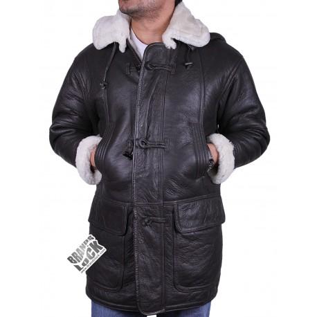 Men's Black Leather Jacket - Yuri