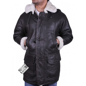 Men's shearling sheepskin duffle coat - Statesman