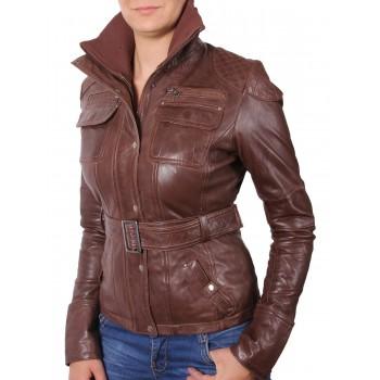 ladies bomber jacket brown - Isabel