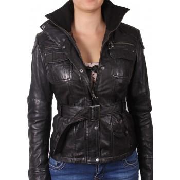 ladies bomber jacket black - Isabel