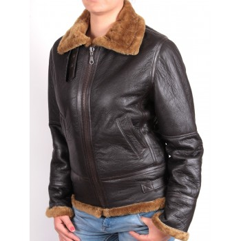 Women brown bomber jacket  - Luiz