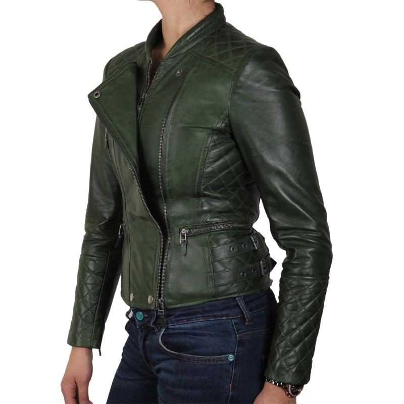 Olive leather jacket