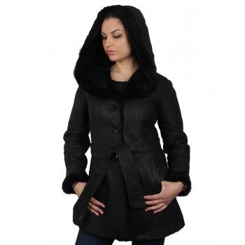 Womens Sheepskin Leather Jacket - Cathy
