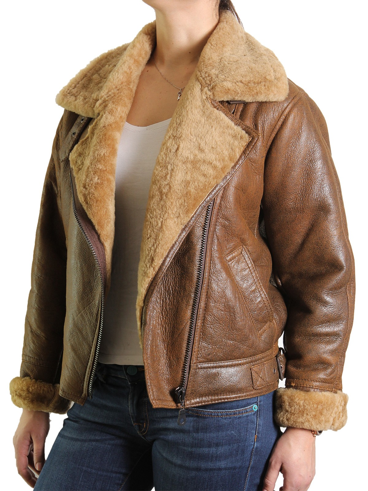 Womens Sheepskin Leather Jacket Cass